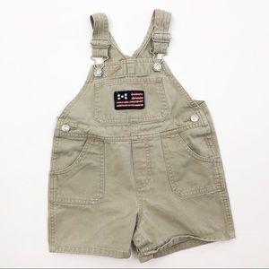 GAP Overalls Khaki Flag Shorts